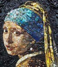 Необычные картины из мусора - Джейн Перкинс