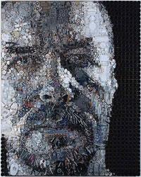 Необычные картины из мусора - Зак Фриман